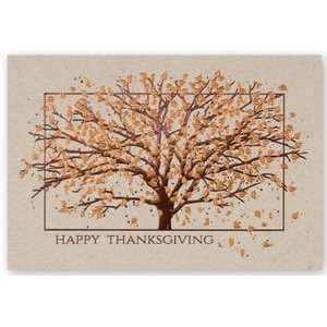 Autumn Tree Happy Thanksgiving Card