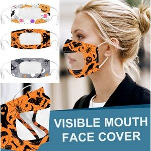 Halloween Adjustable Visible Face Mask with Clear Window