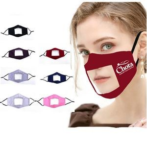 Clear Window Reusable Mask