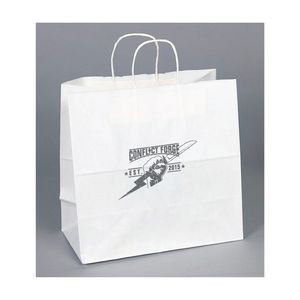 White Kraft Paper Shopping Bag (10