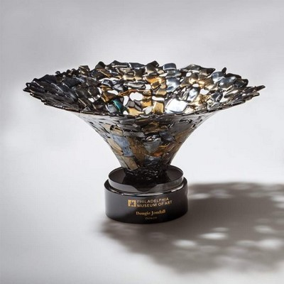 "Ingot Award Bowl - Gold/Silver 10"" Diam"