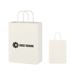 Kraft Paper White Shopping Bag - 10