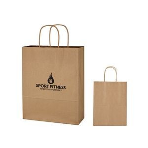 Kraft Paper Brown Shopping Bag - 10